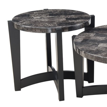 United Furniture Marble Top Round End Table ()