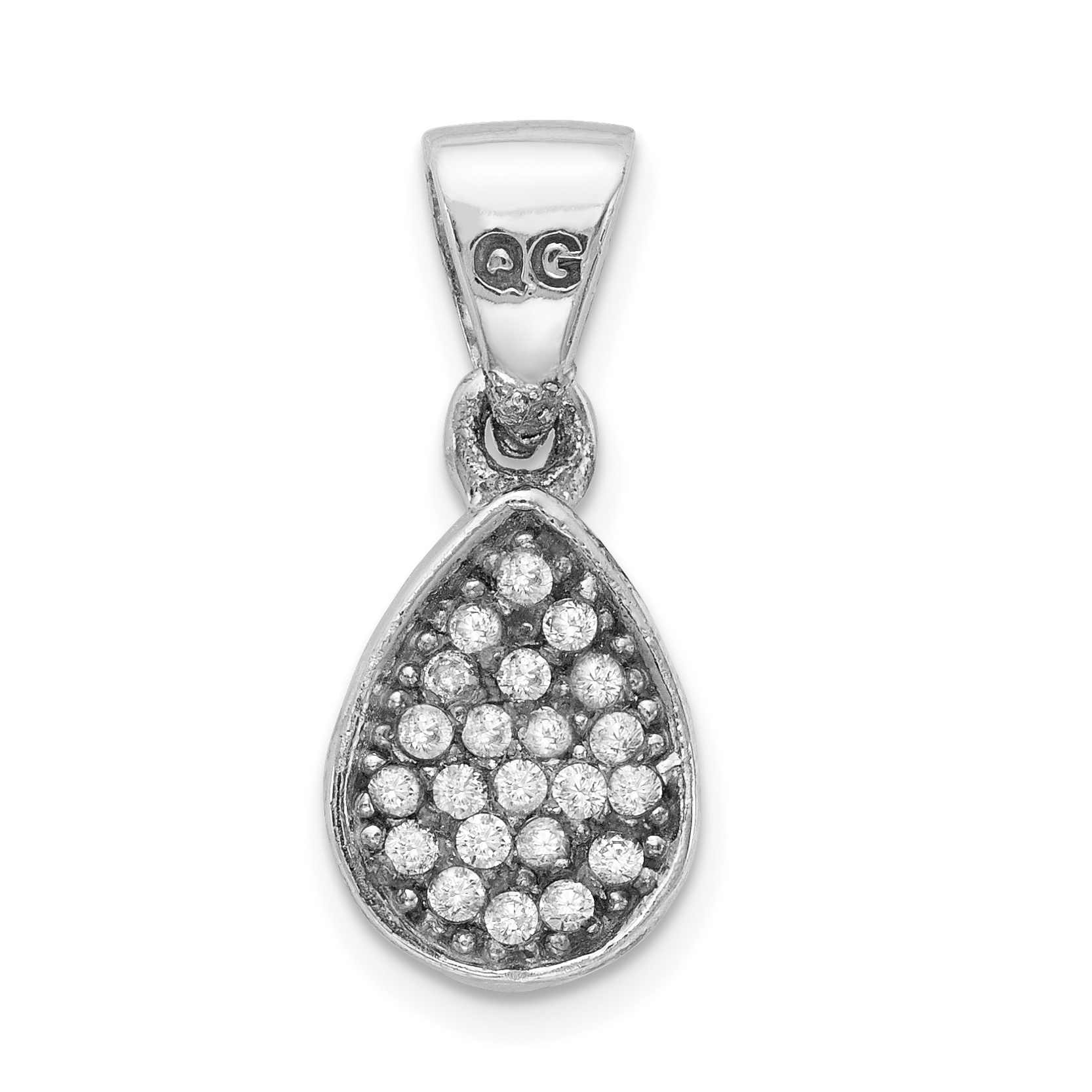 925 Sterling Silver Cubic Zirconia Cz Teardrop Pendant Charm Necklace Fine Jewelry Gifts For Women For Her - image 2 de 2