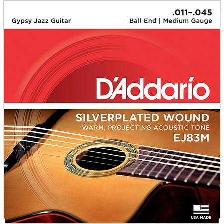 Daddario Jazz Strings (D'Addario EJ83M Gypsy Jazz Silver Wound Medium Acoustic Guitar)
