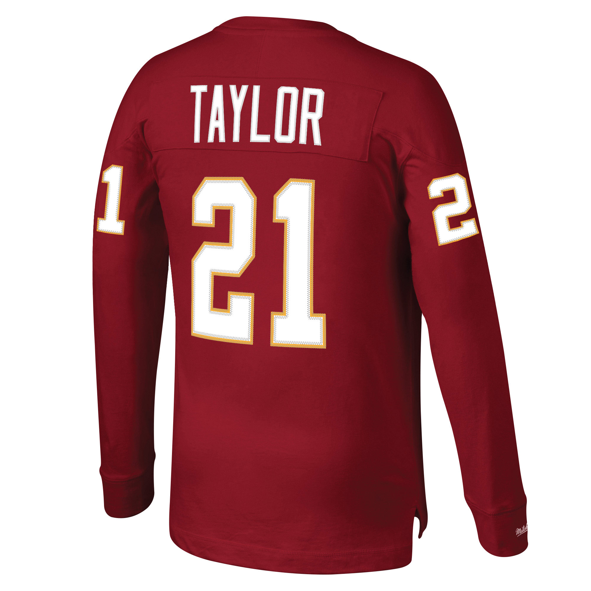 new styles 9f67c a81bd Sean Taylor Washington Redskins Mitchell & Ness Throwback Name & Number  Long Sleeve T-Shirt - Burgundy
