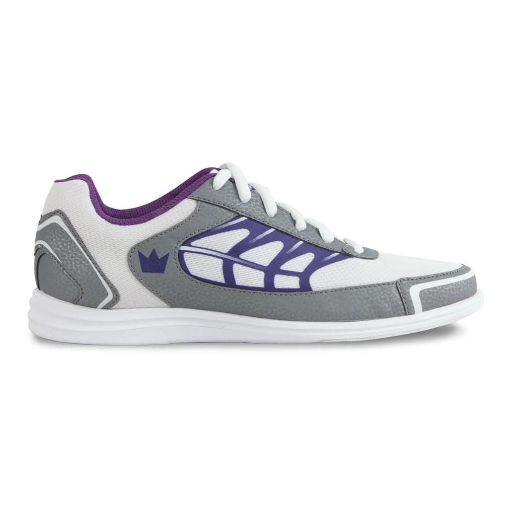 Brunswick Ladies Eclipse Bowling Shoes- White/Silver/Purple