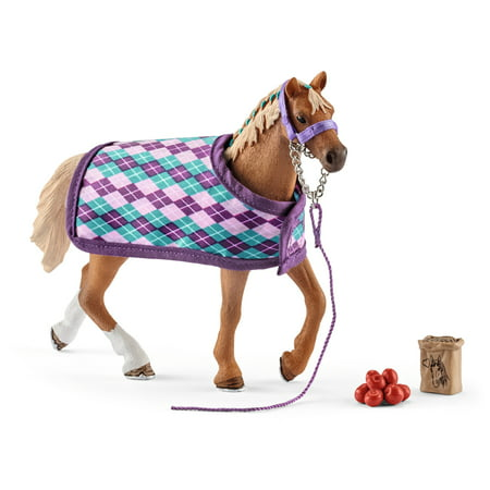 Schleich Horse Club, English Thoroughbred with Blanket Toy Figurine