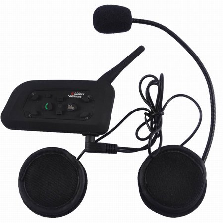 Outdoor Bt Motorcycle Helmet Bluetooth Headset Intercom Range 1200M