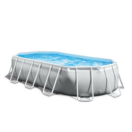 15'x33' Oval Pools - Intex 16.5 x 4 Foot Prism Frame Oval Above Ground Swimming Pool Pump Set