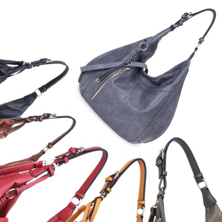 Bag Soft Shell - Dasein  Soft Water Wash Hobo Handbag
