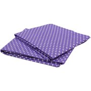 Bacati - MixNMatch Pin Dots Crib/Toddler Bed Sheets 100% Cotton Percale, Lilac, 2-Pack