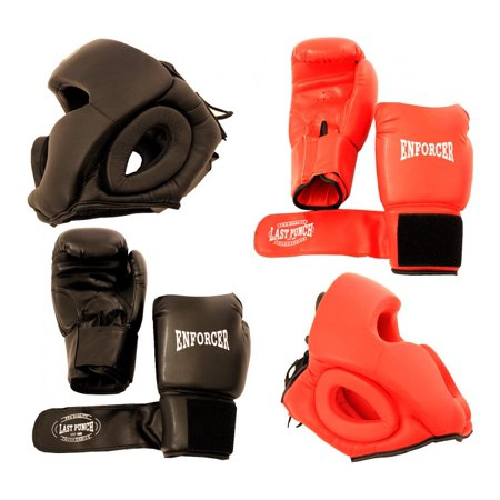 Last Punch High Quality 2 Pairs Pro Boxing Gloves & Pro Head Gears Pro - Boxing Gear Online