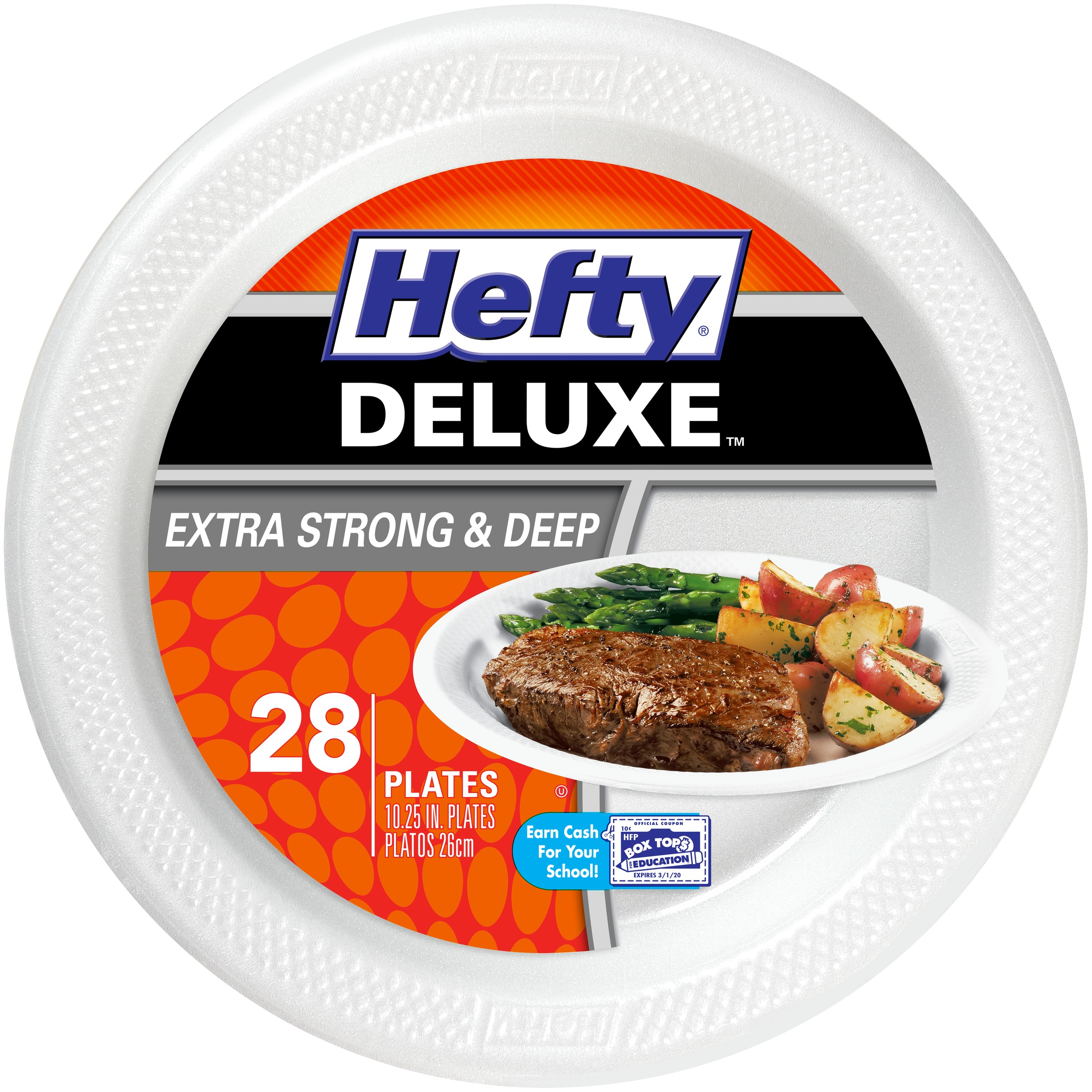 Hefty® Deluxe™ Extra Strong & Deep Foam Plates 28 ct Bag