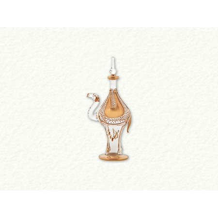 Clear and Gold Camel Egyptian Blown Glass Perfume Bottle