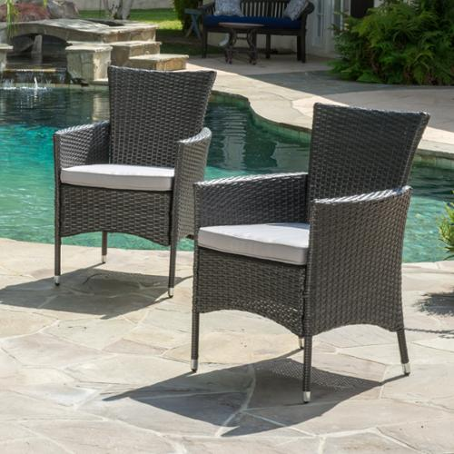 Marin Wicker Dining Chairs (Set Of 2)
