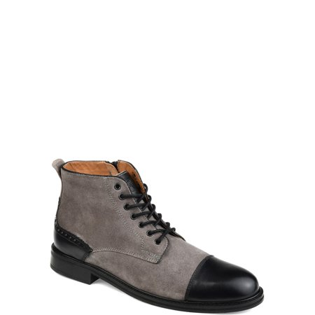 Tuck & Von Mens Genuine Suede Two-tone Cap Toe Boot