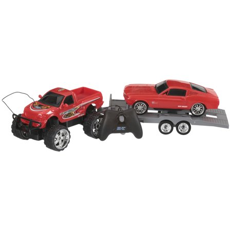 Adventure Force 4-Piece Custom Cruiser Radio Control Truck, Red F-150/'68 Mustang