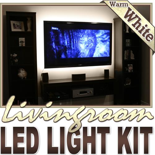 Biltek�� 32.8' ft Warm White Family Room Shelf Table LED Strip Lighting Complete Package Kit Lamp Light DIY - TV Couch Lighting Wall Units Fireplaces Floating Shelves Waterproof Flexible DIY 110V-220V