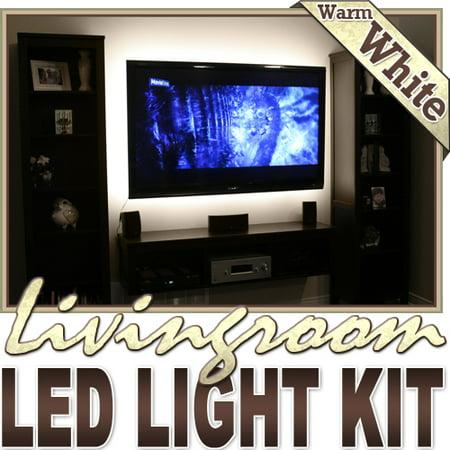 biltek 32 8 39 ft warm white family room shelf table led strip lighting