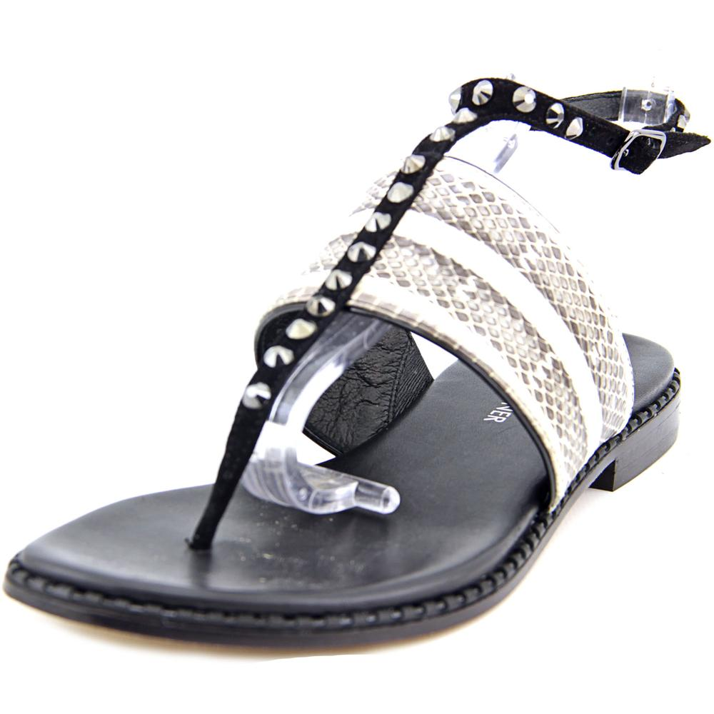 Donald J Pliner Lacy Open Toe Leather Thong Sandal by Donald J Pliner
