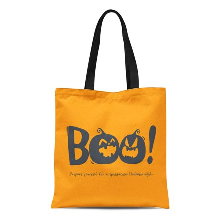 KDAGR Canvas Tote Bag Cartoon Halloween Message Boo Celebration Character Copy Space Cute Durable Reusable Shopping Shoulder Grocery Bag](Bat Cartoon Halloween)