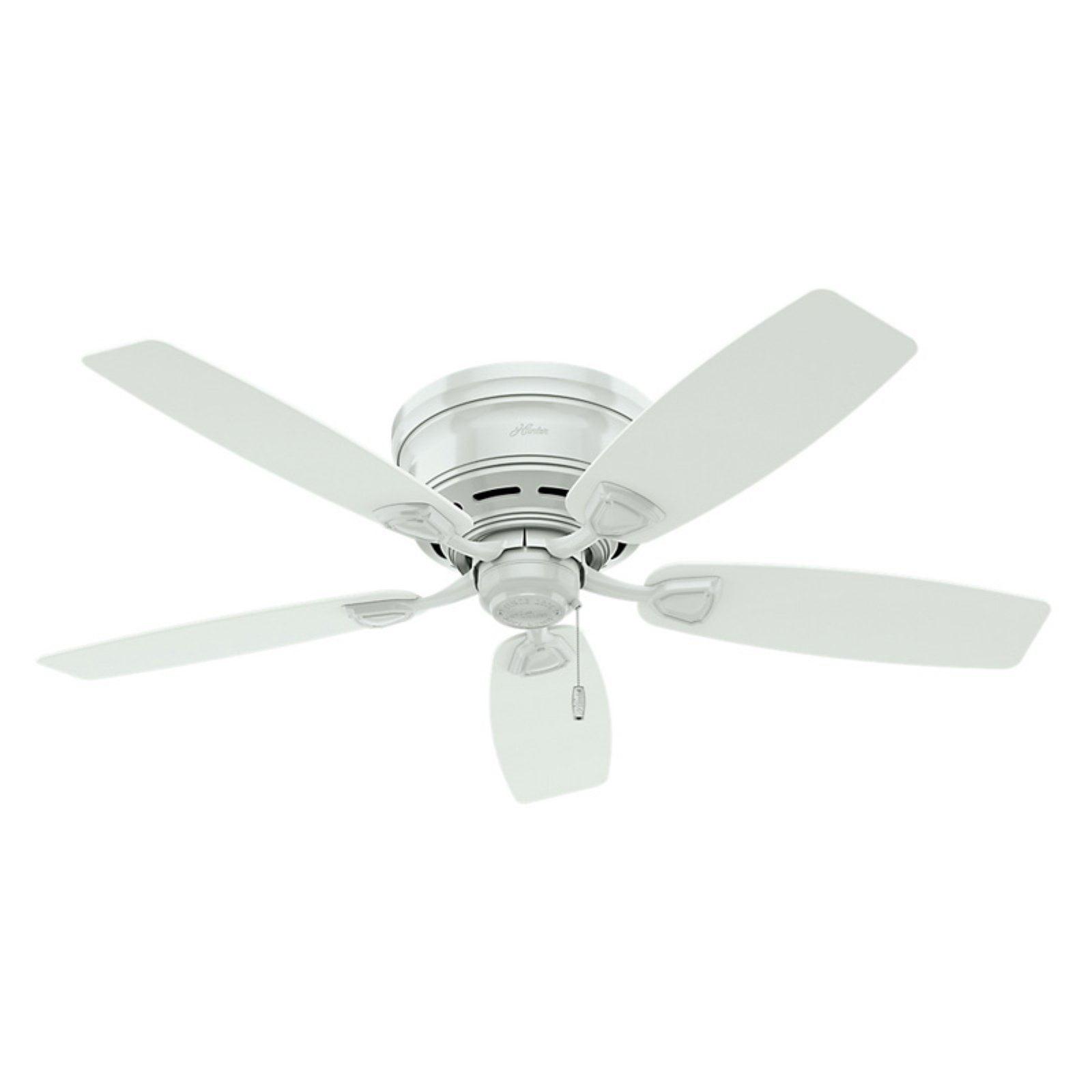"""Hunter Fan Sea Wind 48"""" White Outdoor Ceiling Fan Walmart"""