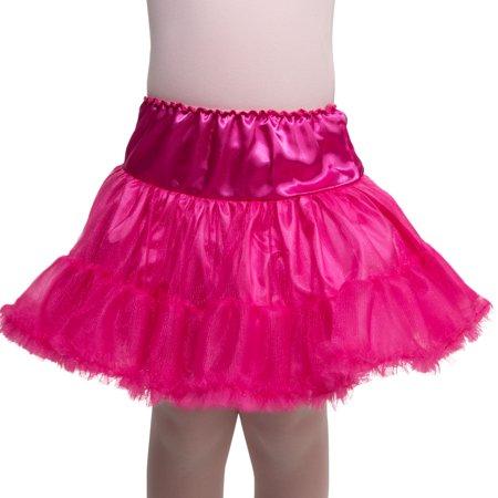 Girl Hot Pink Petticoat One Size Halloween Dress Up / Costume - Dress Up As A Girl For Halloween