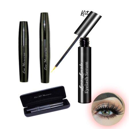 Mascara 3D & Eyelash Serum Growth Enhancer Longer Thicker Stronger Kit 2 (Eyelashes Mascara 3d)