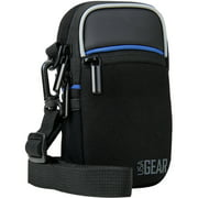 Compact Camera Bag by USA Gear with Rain Cover and Shoulder Sling Strap - Works With Olympus Tough TG-4 , TG-860 , TG-870 / Pen E-PL7 and Many Other Compact Cameras