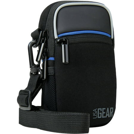 Compact Camera Bag by USA Gear with Rain Cover and Shoulder Sling Strap - Works With Olympus Tough TG-4 , TG-860 , TG-870 / Pen E-PL7 and Many Other Compact Cameras - Olympus E-system Travel Bag
