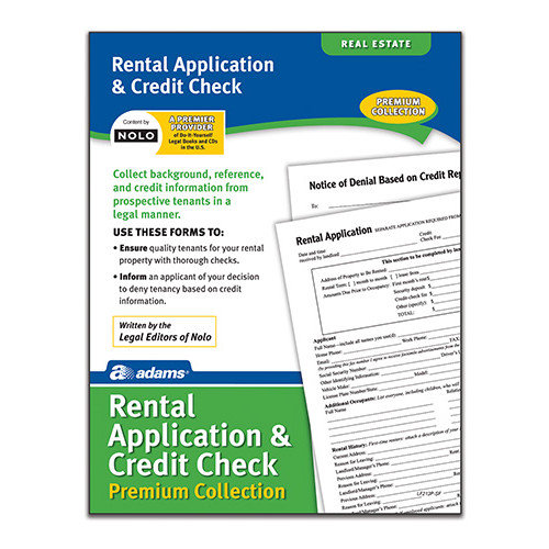 Adams Business Forms Rental/Credit Application Forms and Instructions Pack (Set of 6) (Set of 288)