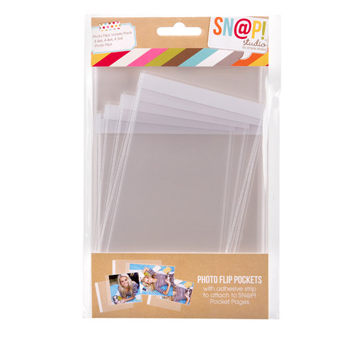Photo Flips Variety for 6 by 8-Inch Binders 12-Pack Simple Stories Snatp