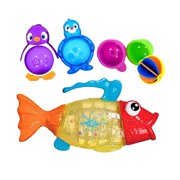 Munchkin Twisty Fish Bath Toy with Lazy Buoys Bathtub Toys