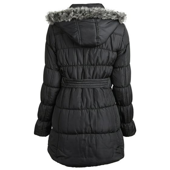 Sportoli - Sportoli™ Junior Women's Down Alternative Fleece Lined Long Puffer Bubble Coat