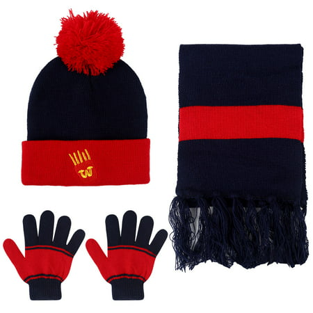 Vbiger Kids 3-Pieces Knit Hat + Scarf + Gloves Set Winter Warm Set for Boys Girls - Michael Jackson Hat And Glove For Kids