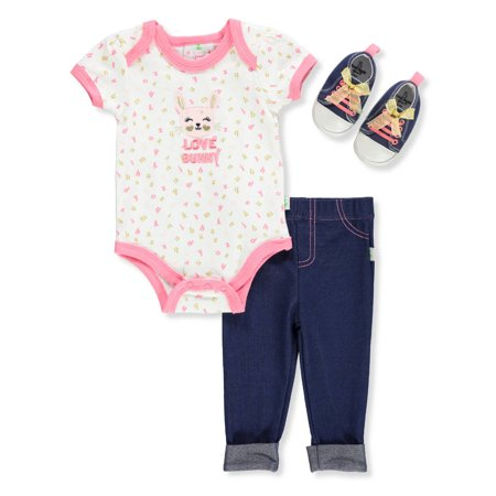 Duck Duck Goose Baby Girls' 3-Piece Pants Set Outfit](Duck Outfit)