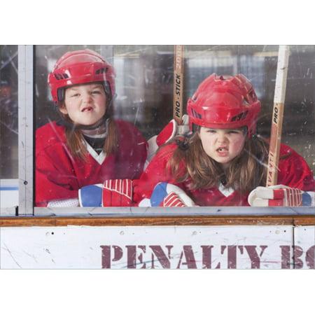 Avanti Press Tough Girls In Penalty Box Funny Hockey Birthday Card