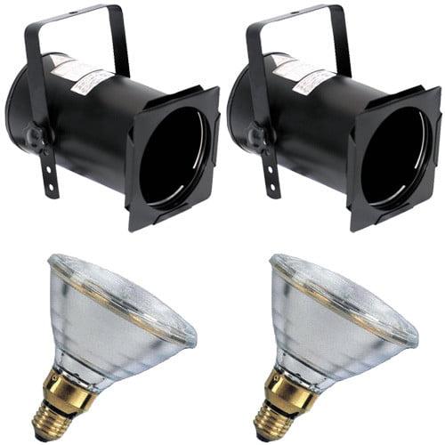 2 pcs. PAR38B + 2 pcs. BulbAmerica 120PAR38 SP Bulbs PD