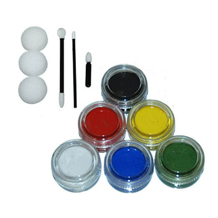 6 - 10ml PRIMARY COLORS FACE PAINTING KIT Paint Set Kid (Halloween Face Painting Orlando)