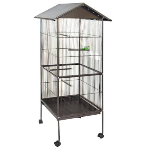 "ALEKO BC002 Large Steel 20"" x 20"" x 69"" Bird Cage/Pet House"