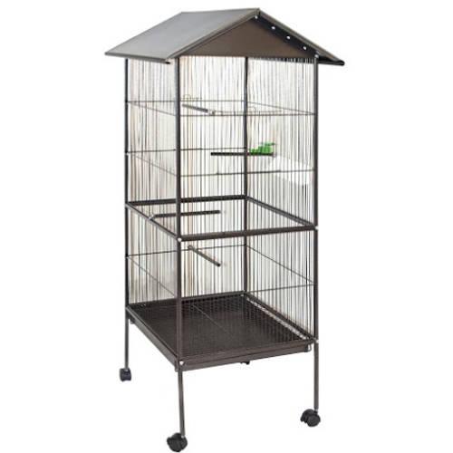 "ALEKO BC002 Large Steel 20"" x 20"" x 69"" Bird Cage/Pet House"