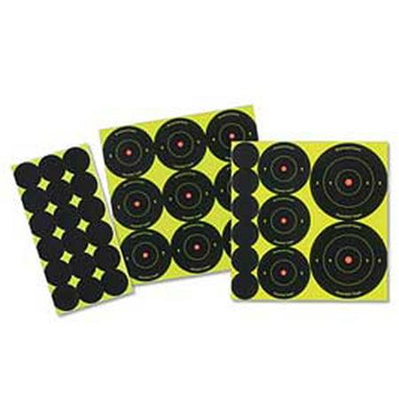 Birchwood Casey 35608 Shoot-N-C Bulls-Eye Variety Pack Self-Adhesive 132 Targets Black/Red