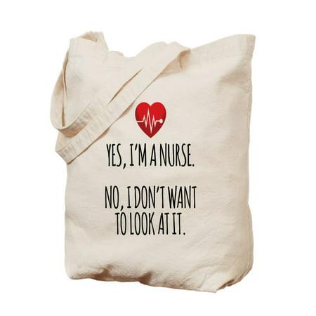 Nurse Tote Bag (CafePress - Yes I'm A Nurse - Natural Canvas Tote Bag, Cloth Shopping)