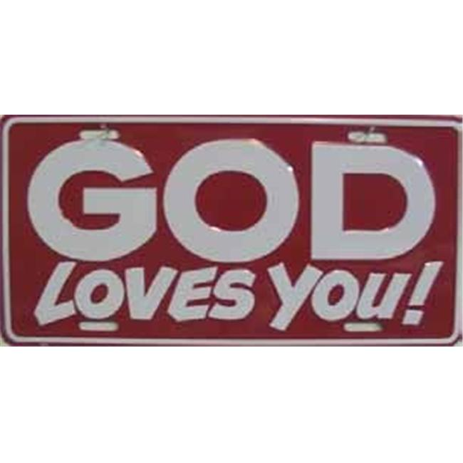 LP - 238 God Loves You License Plate - 11