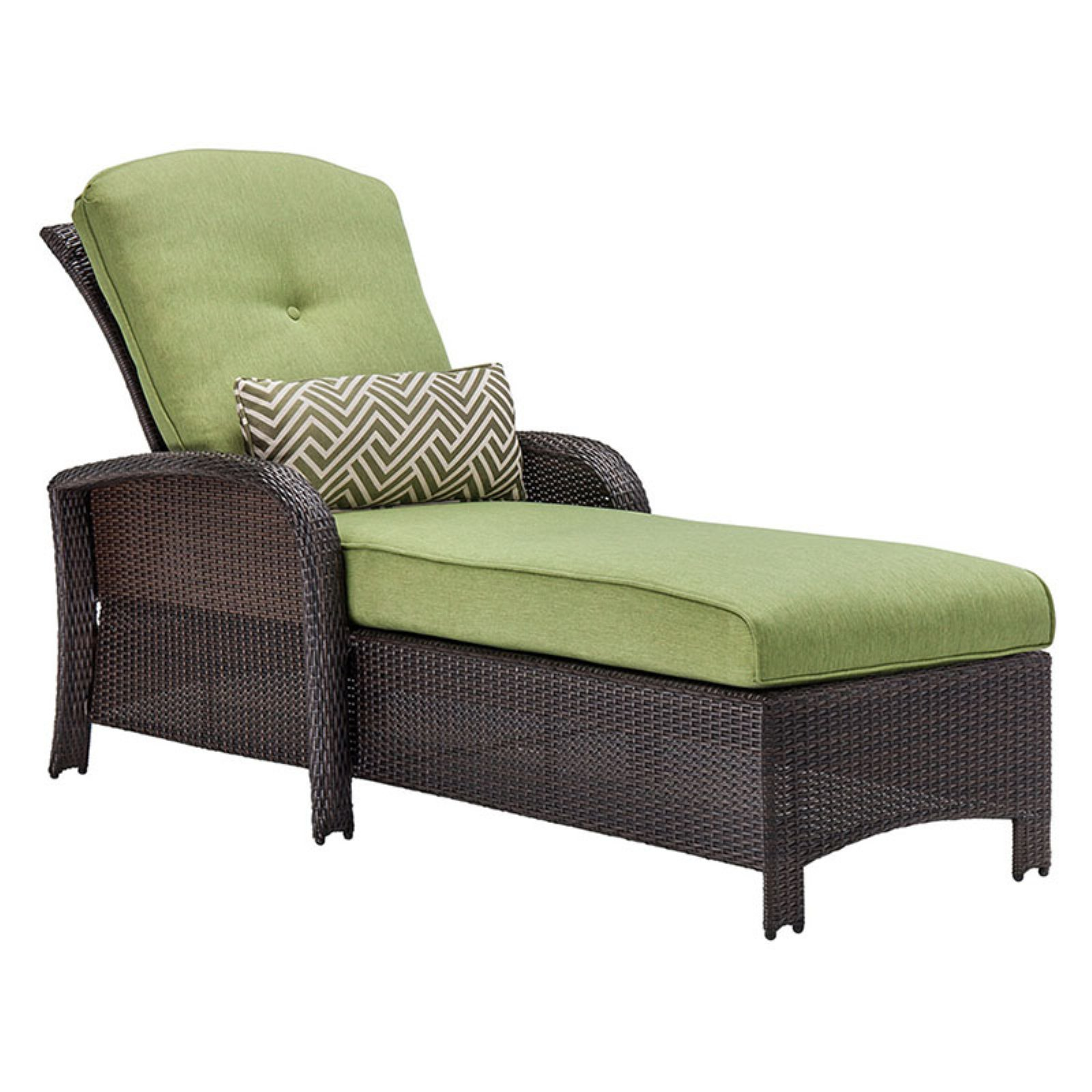 Hanover Strathmere Outdoor Luxury Wicker Chaise Lounge Cilantro Green STRATHCHS