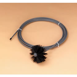 "Dryer Vent Brush, 4"" Round With 20' Flexible Handle"