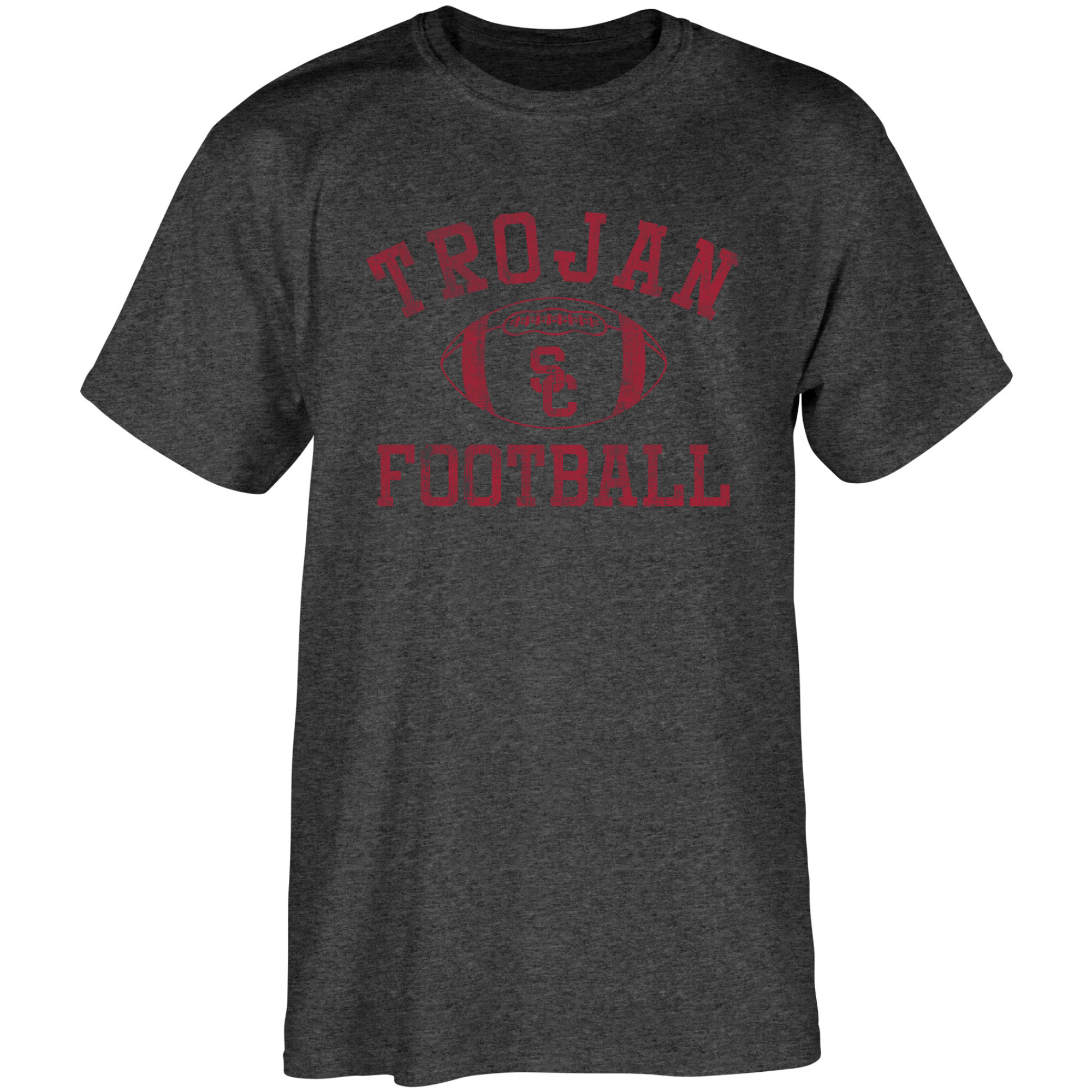Men's Heathered Black USC Trojans Old Authentic Distressed T-Shirt