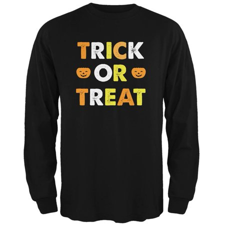 Halloween Trick Or Treat Black Adult Long Sleeve - Halloween Sweet Treats For Adults