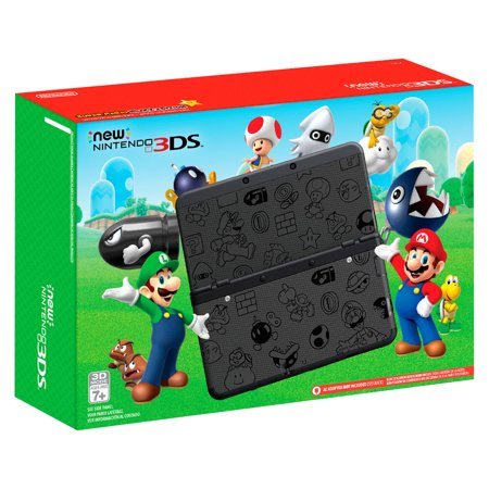 New Nintendo 3DS Super Mario Black Edition (Nintendo 3ds Purple Console)