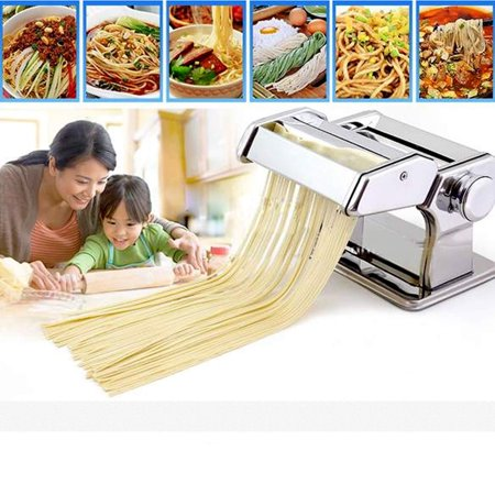 Elecmall Home Kitchen Stainless Steel  Noodle Making Machine with  Removable Black Arm Handle and (Best Steel For Blade Making)