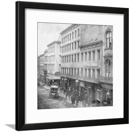 Tavern and Liquor Store Do Business on Sacramento Street Framed Print Wall - Spirit Store Sacramento