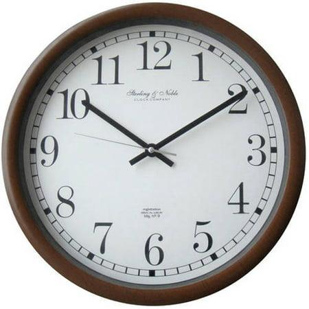 Mainstays 15 Quot Plastic Wall Clock Walmart Com