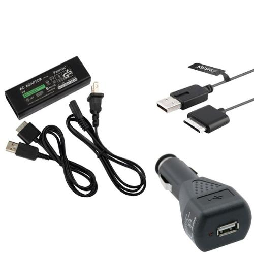 Insten For Sony PSP Go PSPGO AC Wall Home   Car Charger Power Adapter   USB Data Charging Cable