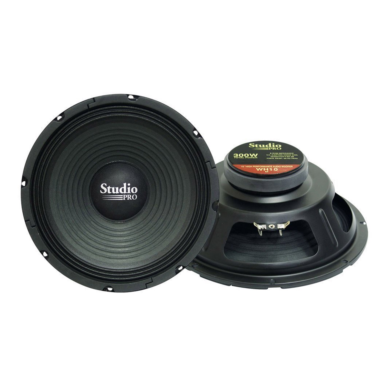 "Pyramid 10"" 300 Watt High Power Paper Cone 8 Ohm Subwoofer"