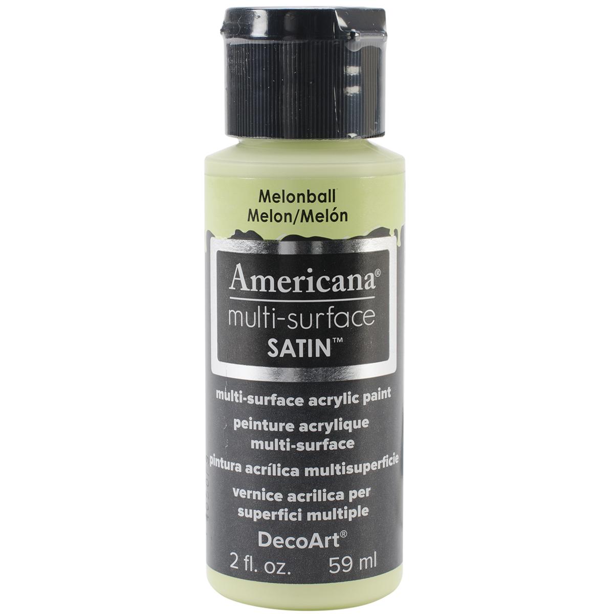 Americana Multi-Surface Satin Acrylic Paint 2oz-Melonball